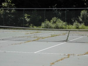 Tennis Court and Sports Surface Weed Removal and Weed Damage Repairs